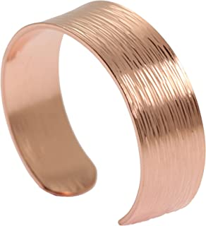 Chased Copper Cuff Bracelet by John S Brana Handmade Jewelry 100% Solid Uncoated Copper