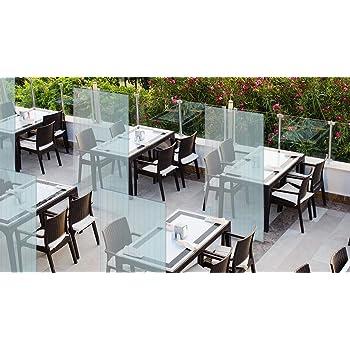 Mampara protectora mostrador - Mampara para oficinas transparente - Mampara plegable portátil (200x100cm) VERTICAL (10 unidades): Amazon.es: Oficina y papelería