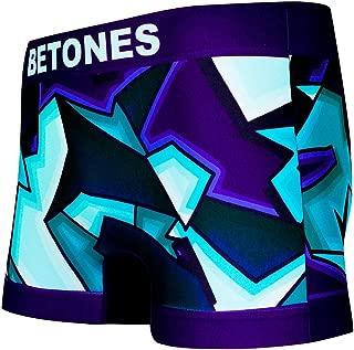 BETONES (ビトーンズ) メンズ ボクサーパンツ RALF PURPLE dwearsステッカー入り ローライズ アンダーウェア 無地 ブランド 男性 下着 誕生日 プレゼント