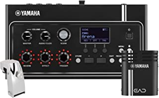 Yamaha EAD10 Electronic Acoustic Drum Module with Acoustic Drum Microphone System Interconnect Cables and Power Supply with Yamaha DT-50S Dual-zone SnareTom Trigger Pickup w/Die-cast Metal Housing