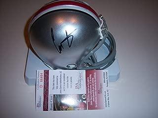 Chris Carter VikingsBuckeyes JSAcoa Autographed Signed Mini Helmet