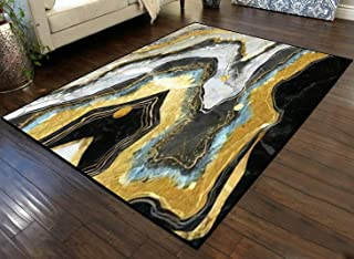 Large Area Runner Rug Movie Mat 3D Mural Wallpaper for Wall Frame Resin geode and Abstract Art Non-Slip Floor Mat Doormats...