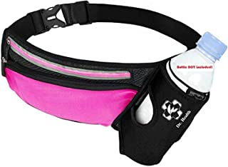 Micoa Running Belt Water Bottle Belt Adjustable Hydration Belts for Rnners Belt Waist Pack for Running Hiking Water Resistant Waist Pack Workout Fanny Pack with Water Bottle and Reflective Stripes