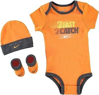 5e993f7e6eb7b Nike Age Newborn 0-6 Months 3 Piece Infant Baby Boys Set Hat Sports Beanie