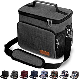 Insulated Lunch Bag for Women/Men - Reusable Lunch Box for Office Work School Picnic Beach - Leakproof Cooler Tote Bag Fre...