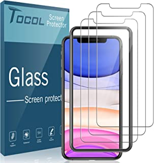 3 Pack TOCOL Compatible with iPhone 11 6.1 inch and iPhone XR Tempered Glass Screen Protector - Alignment Frame Easy Insta...
