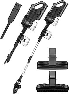 掃除機 コードレス サイクロン スティッククリーナー ハンディクリーナー 2-in-1 充電式 8500Pa 超強吸引力 スタンド付 簡単収納 軽量 PSE規格品 一年保証 (SVC1023黒)