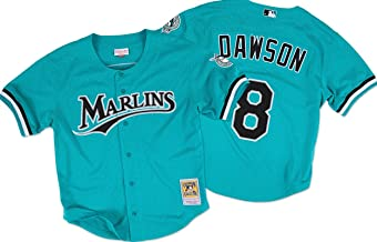 Mitchell And Ness Andre Dawson Marlins Baseball Jersey
