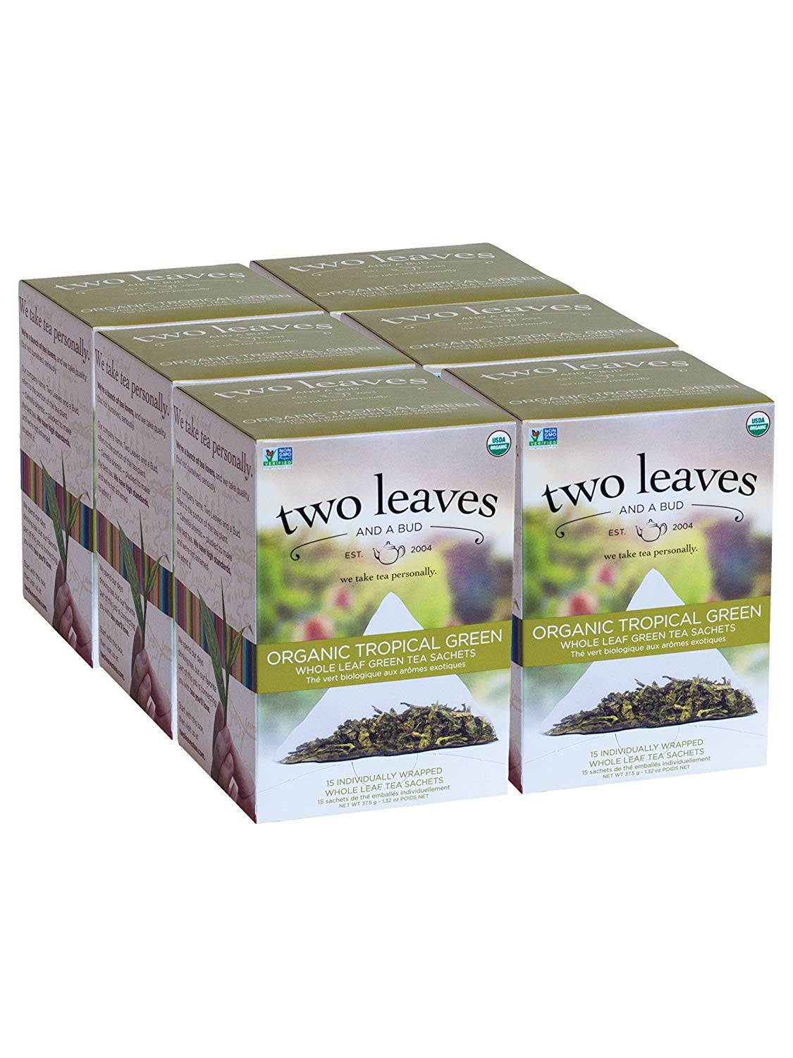 Two Leaves and a Max 60% OFF trust Bud Organic Green Tropical Bags Tea Leaf Whole