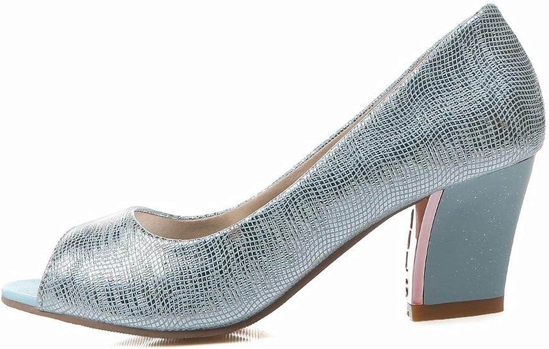 Tirahse Sweet Women's peep Toe Shiny Bridal Evening Party Charm Chunky mid Heel Dress Pumps shoes