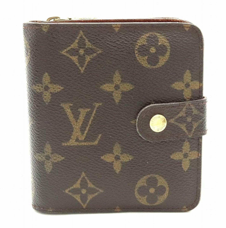 一過性動的デコラティブ[ルイ ヴィトン] LOUIS VUITTON モノグラム コンパクトジップ コの字型 2つ折ファスナー財布 M61667 [中古]