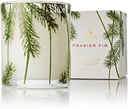 Thymes - Frasier Fir Pine Needle Decorative Glass Jar Candle with 50-Hour Burn Time - 6.5 Ounces