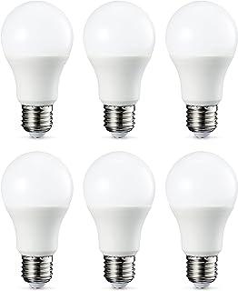 Amazon Basics E27 LED Lampe, 9W (ersetzt 60W), kaltweiß, 6er-Pack