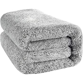 """59"""" x 27"""" Large Bamboo Bath Towel, Microfiber Bath Towel Soft Fast Drying Shower Towel , Super Absorbent & Quick-Dry Bath Shower Towel Washcloths for Gym Home Hotel Office Travel (Gray)"""