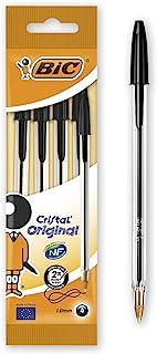 BIC Cristal Medium Balpen 4 Stuk zwart