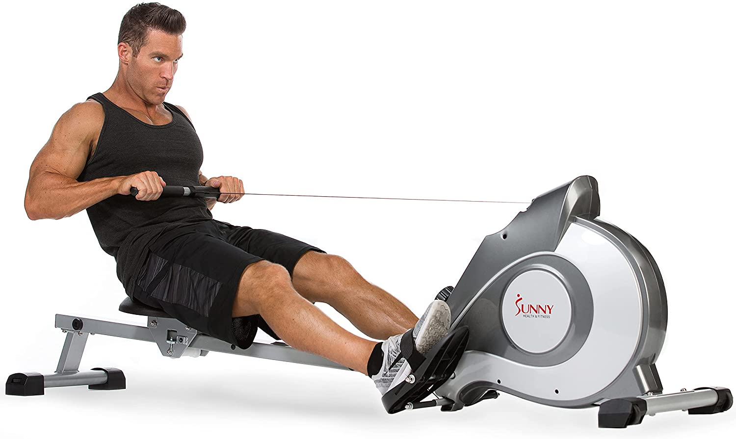 Sunny Health Fitness Ranking TOP3 Magnetic Rowing Max 55% OFF Machine Rower Mo with LCD