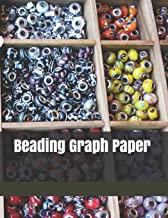"Beading Graph Paper: 8.5""x11"",130 Pages Easy And Fun Patterns For Gifts And Accessories From Fuse Beads"