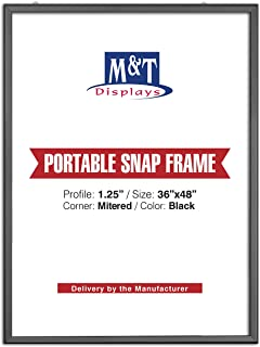 M&T Displays Portable Snap Frame, Poster Size, 1.25