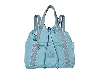 Kipling Art Medium Tote Backpack (Aqua Frost) Handbags