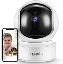 TENVIS 2K 3MP Indoor Security Camera - Dog Camera with Phone App, Sound/AI Motion Detection & Auto Tracking, Pan/Tilt WiFi...