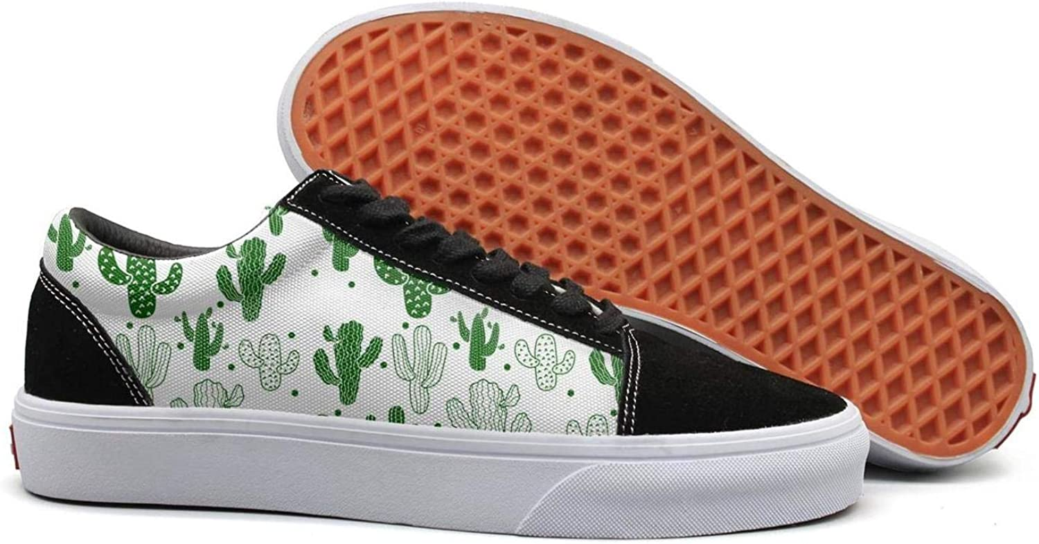 Wuixkas Cactus Birthday Womens Canvas Upper Sneakers Lace up Casual Fashion Loafer Canvas shoes