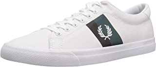 Fred Perry Men's Underspin PLASTISOL Twill Sneaker, White, 6.5 D UK (7.5 US)