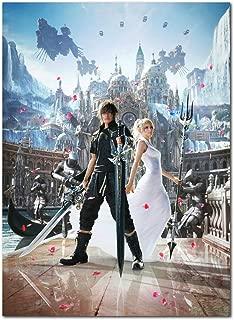 Printing Pira Poster - Final Fantasy XV Noctis and Luna Poster (24x36)