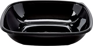 Sabert Square Large Thermoformed PET Bowl Black 160 oz.50//Case