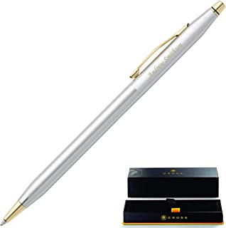 Dayspring Pens | Engraved Cross Classic Century Medalist Ballpoint Pen, Chrome and 23 Karat Gold Plated Trim 3302. Personalized Cross Gift Pen.
