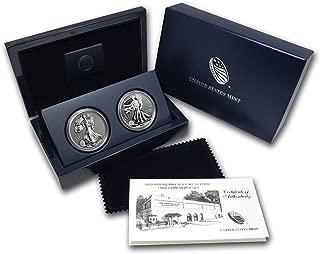 2013 W 2-Coin Silver American Eagle West Point Set (w/Box & COA) Brilliant Uncirculated