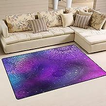 Purple Mandala Doormat Floor Mat Rug Indoor/Outdoor/Front Door/Bathroom Mats 23.6 x 15.7 inches Non Slip