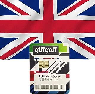 Giffgaff UK Sim Card Prepaid 20GB Data/Talk/SMS-15 Days Travel Cellphone Card