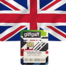 Giffgaff UK Sim Card Prepaid 20GB Data/Talk/SMS-15 Days Travel Cellphone Card