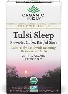 Organic India Organic Tulsi Herbal Tea, Tulsi Sleep, 18 Tea Bags (Pack of 6)