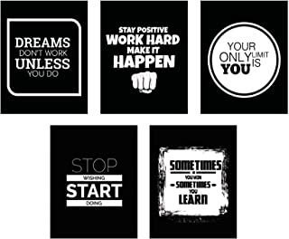 Motivational Wall Art Posters Pack - 8