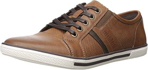 Kenneth Cole Unlisted Men& 039;s Shiny Crown Fashion Turnschuhe, Cognac, 13 M US