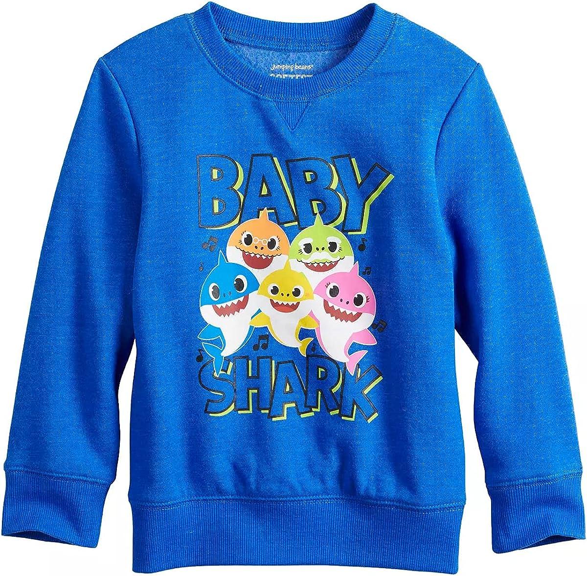 Toddler Boy Jumping Beans Baby Shark Long Sleeve Graphic Sweatshirt, Blue