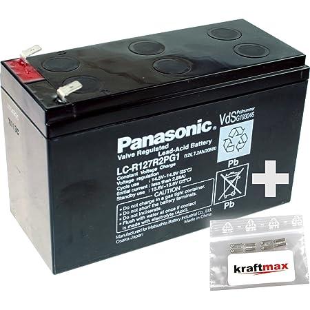 Panasonic 1 X 12v 7 2ah Agm Blei Akku Lc R127r2pg1 Elektronik