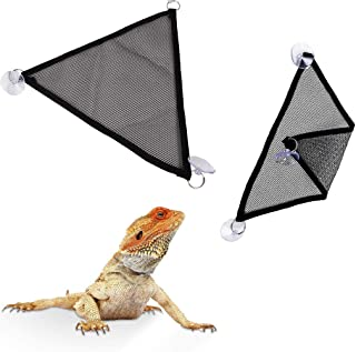 トカゲ ヘビ その他の爬虫類 ペットメッシュハンモック のぼりはし 止まり網吸盤付き マット やわらかい 丈夫 生存環境適応 ウェットシェルター 寝台登り 2個セット (M)