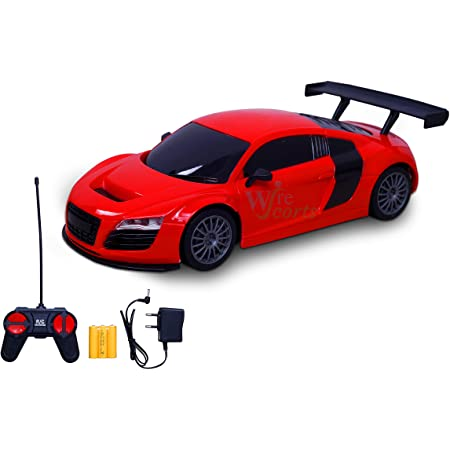 WireScorts Chargebal Racing Car for Kids with Remote Control, Pack of 1, Multicolor
