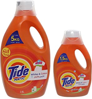 Tide Automatic Whites & Colors Power Gel Detergent - 2.8 Liter with 1 liter