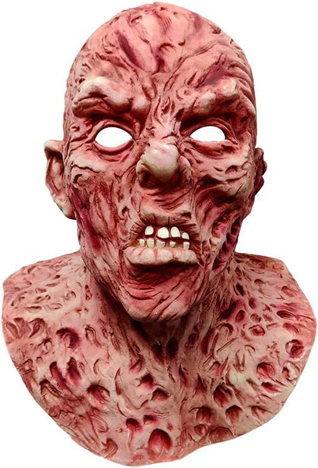 Time sale AJIU Rare Creepy Mask Scary Monster Dead Zombie Party Costume