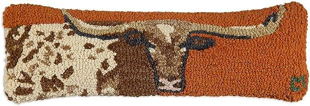 Chandler 4 Corners Longhorn 8x24 Hooked Pillow