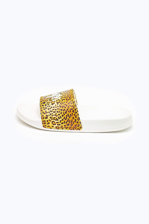 Kids Hype Leopard Print Sliders