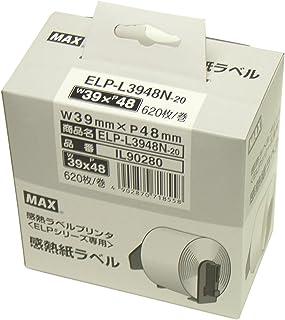 マックス ラベル 上質感熱紙 ダイカットラベル ラベルプリンタ用 ELP-L3948N-20