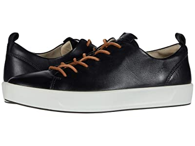 ECCO Soft 8 Dri-Tan LX Sneaker (Black Calf Leather) Women
