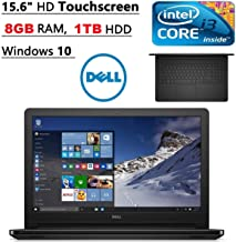 Dell Inspiron 15.6-inch Touchscreen Premium Laptop PC (2016 Model), Intel Core i3 Dual-Core Processor, 8GB DDR3 RAM, 1TB Hard Drive, SuperMulti DVD Drive, HDMI, Windows 10