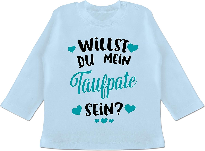 t/ürkis Willst du Mein Taufpate Sein? Shirtracer Spr/üche Baby Baby T-Shirt Kurzarm