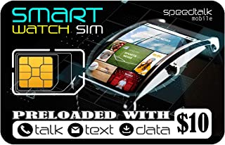 Smart Watch SIM Card for 2G 3G 4G LTE GSM Smartwatches and Wearables - 30 Day Service - USA Canada & Mexico Roaming