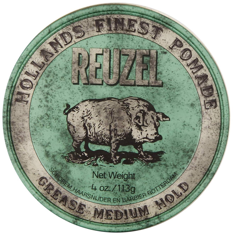 利得廃棄壁Reuzel Medium Green Grease Hold Pomade by Reuzel
